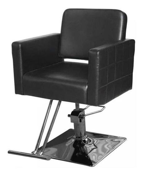 Silla Para Estetica Premium Cuadrada Barbero Sillon