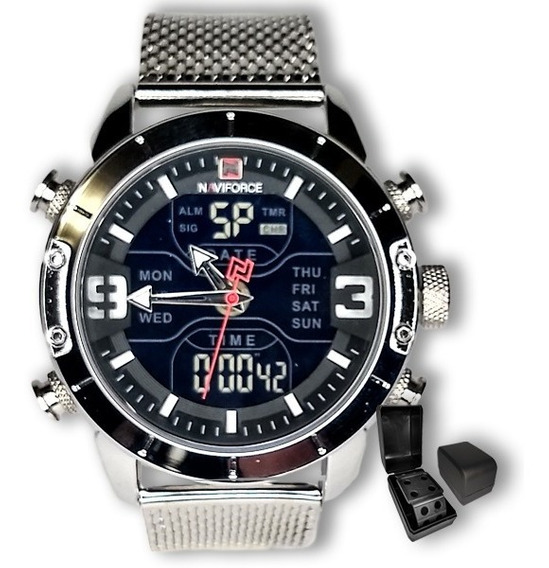 Relógio Masculino Naviforce Malha Importado Original+brinde