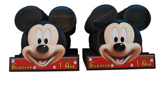 Servilleteros D Mickey Mouse Paquete De 10 Piezas Madera Mdf