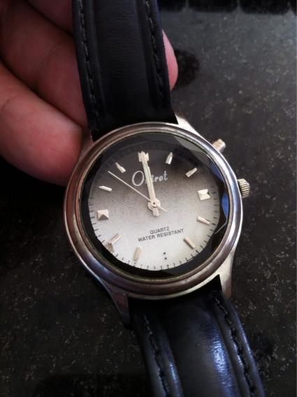 Relógio Oniret Clássico Vidro Lapidado Máquina Quartz Japan