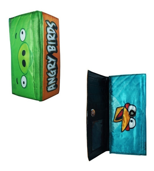 Angry Birds Cartera Larga Pig Blue
