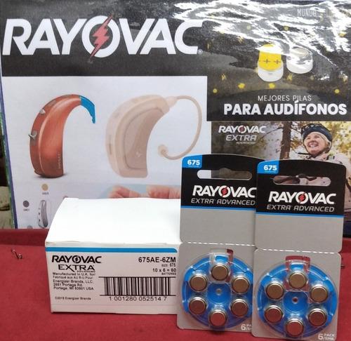 Pilas Rayovac Extra Advance Para Aparatos Auditivos.blister6