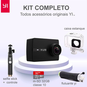 Kti Completo Xiaomi Yi Lite Camera Ação 16mp 4k - Lcd 2pol