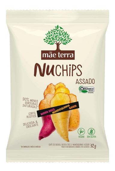 Mix Chips Mãe Terra Batata Doce, Rustica E Mandioquinha 32g
