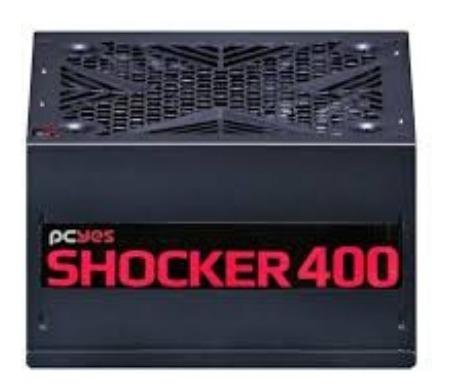 Fonte 400w Pcyes 80plus Shocker Pfc Ativo Envio Em 24hrs