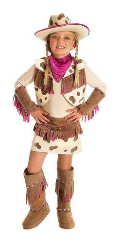 Disfraz Vaquera Cowgirl Niñas De 2 A 4 Años Halloween Nuevo