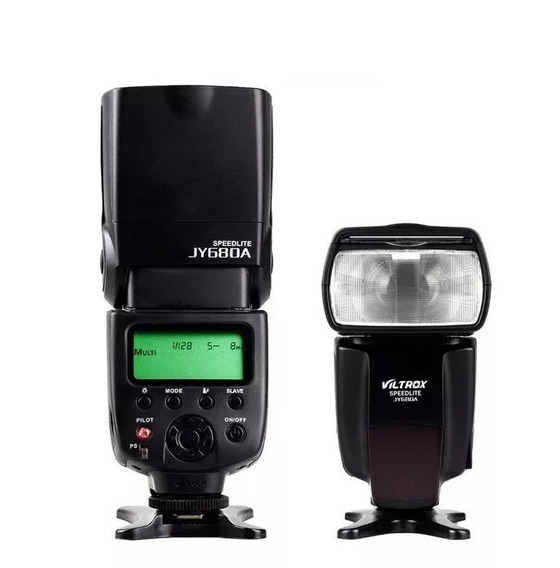 Flash Viltrox Jy 680a Para Qualquer Canon E Nikon Universal