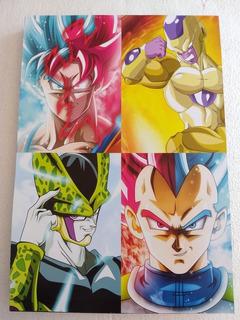 Cuadro Decorativo Dragon Ball Goku ,cel , Vegeta Y Freezer