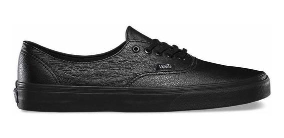 Vans Authentic Decon Cuero Black Black Talle 12 Us