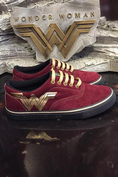 Tênis Cano Baixo Dc Comics Wonder Woman Velvet