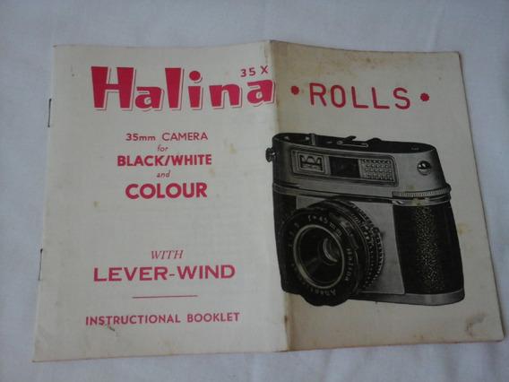 Manual Instruções Camera Halina Rolls 35 Mm
