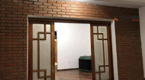 Sobrado Com 3 Dormitórios Para Alugar, 200 M² Por R$ 6.000/mês - Jardim - Santo André/sp - So0216