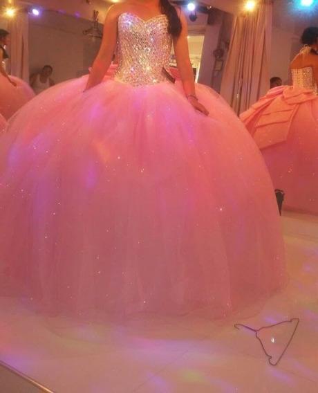 Vestido De Xv Años Color Rosa Con Accesorios