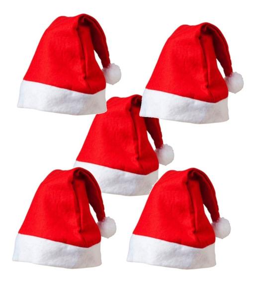 12pz Gorros Navideños Santa Claus Rojo Arbol Navidad Posadas
