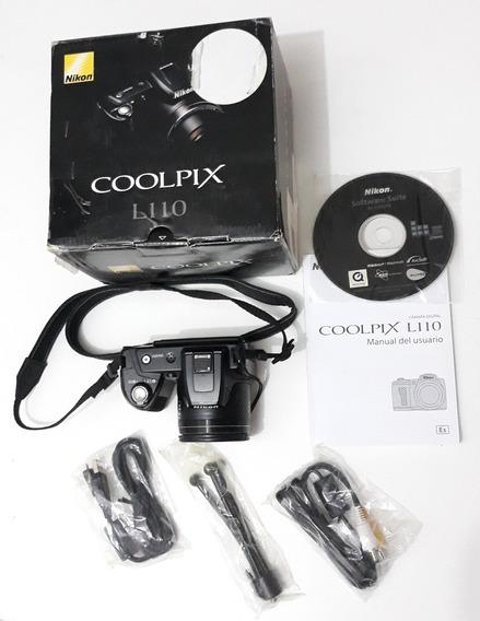Câmera Semi Profissional Nikon Coolpix L110 Semi Nova