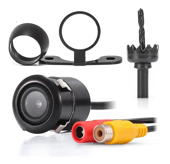 Camera De Ré Automotiva 2 Em 1 Colorida Borboleta E Embutir