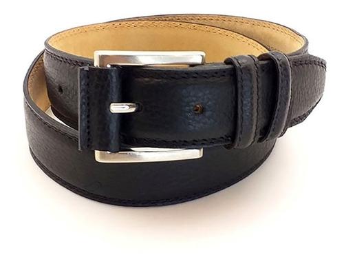 Imagen 1 de 1 de Cinto Cinturon De Cuero Para Hombre Semi Formal Color Negro