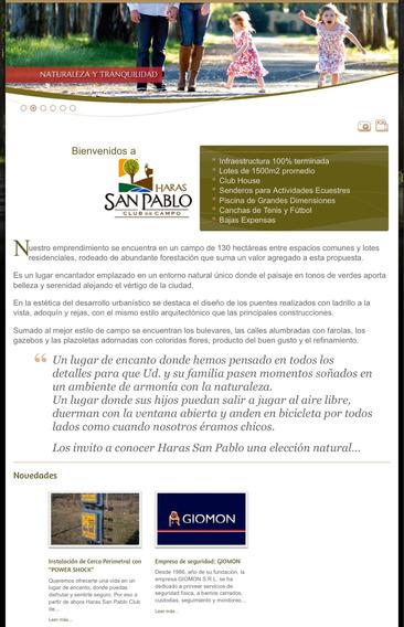 Lote De 2000 Mtrs En Haras San Pablo Tomó Permuta Liquido