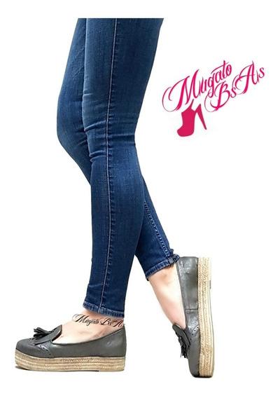 Chatitas Mujer Con Plataforma Pompones Zapatos Mugato-bsas®