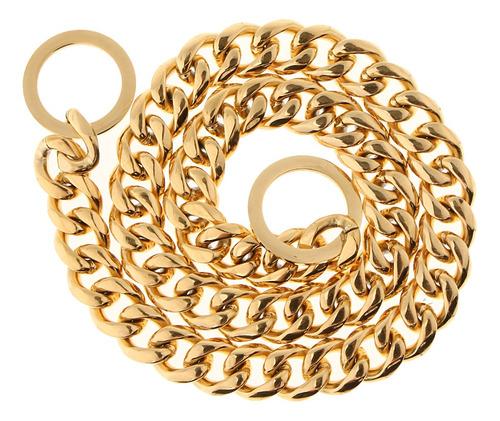 Imagen 1 de 8 de Collar De Esnes Cubanos Grandes De Acero Inoxidable,
