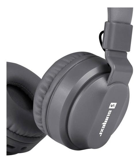 Fone Ouvido Sem Fio Sly11 Stereo Qualidade Esportes Cinza2