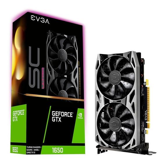 Placa De Video Geforce Gtx 1650 4gb Evga Sc Ultra Xellers 2