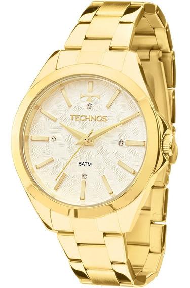 Relógio Feminino Technos Dourado Fashion Trend 2039bk/5b