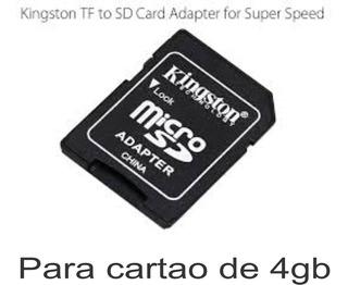 Adaptador Para Cartão De Memoria Kingston 4 Gb