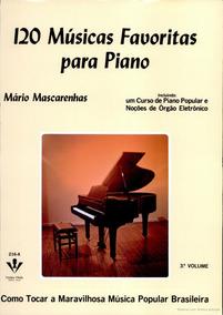 Livro 120 Musicas Piano Partituras V 3 Novo