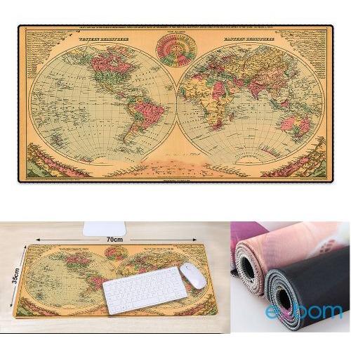 Mouse Pad Gamer Mapa Do Mundo Extra Grande 700 X 350 X 3mm