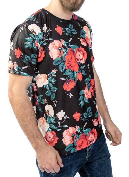 Camiseta Floral, Off White, Azul, Swag, Streetwear