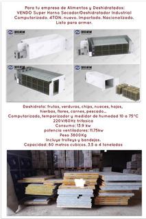 Horno Secador/deshidratador De Alimentos. Industrial 4ton