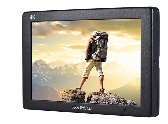 Monitor Feelworld T7 + Case Np9 Ips Suporte 4k Hdmi Aluminum