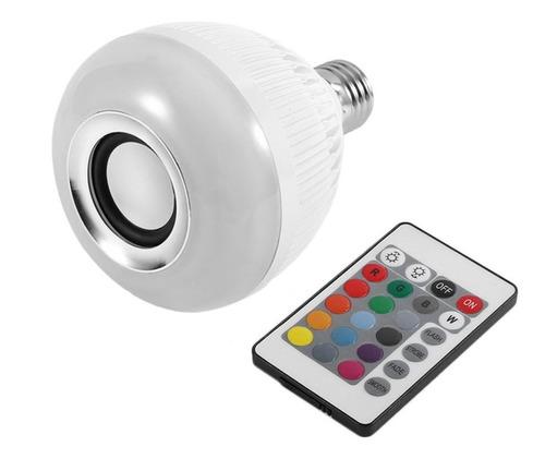 Imagen 1 de 10 de Lampara Luces Led Rgb Parlante Bluetooth Control Remoto