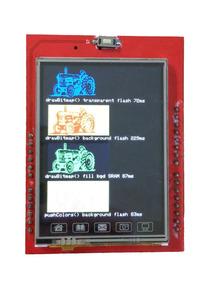 Shield Display Lcd Tft 2.4 Touchscreen + Sd + Para Arduino