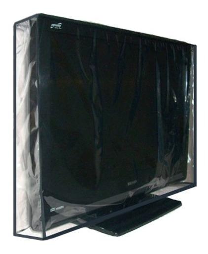 Capa Em Pvc Cristal 100% Impermeável Para Tv Lcd 32