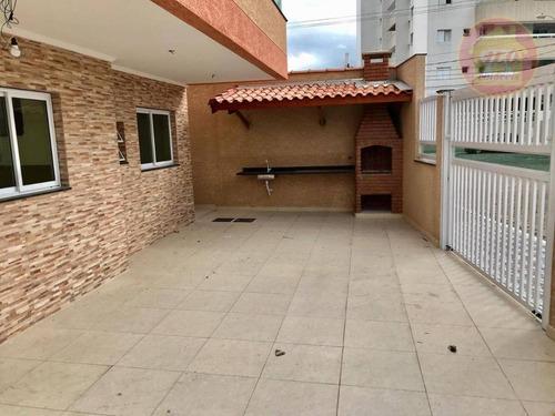 Sobrado Com 2 Dormitórios À Venda, 130 M² Por R$ 380.000,00 - Aviação - Praia Grande/sp - So0618