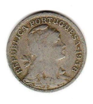Moneda Portugal Año 1938 50 Centavos Alto Valor Catalogo