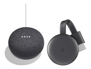 Combo Google Chromecast 3era Gen + Google Home Mini