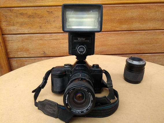 Máquina Fotográfica Antiga Com Várias Lentes
