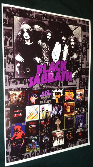 Poster Lp Black Sabbath Ozzy Vinil Dio Vinil Black Sabbath