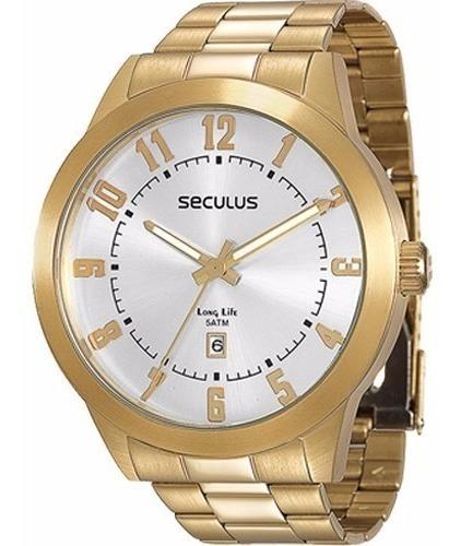 Relógio Masculino Séculus 28692gpsvda2 - 2 Anos De Garantia
