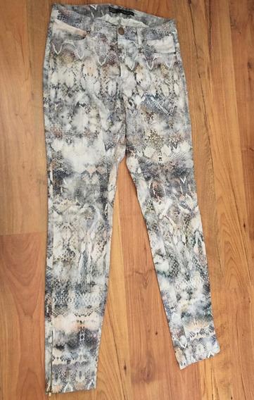 Padrisimo Pantalon Zara Basic Estampado Cierres Original!!
