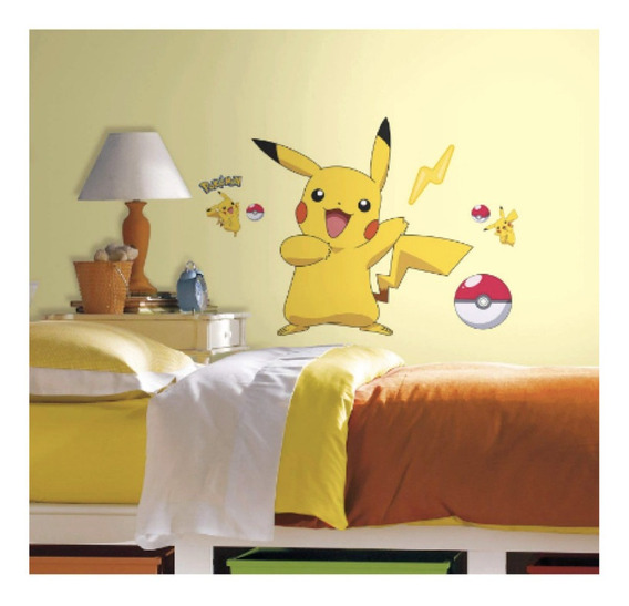 Pokemon Picacho Vinil Decorativo Adherible