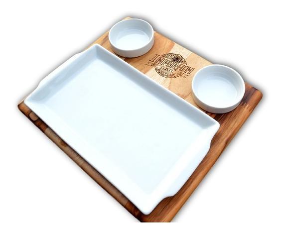 Tábua Para Porções Com Porcelanas