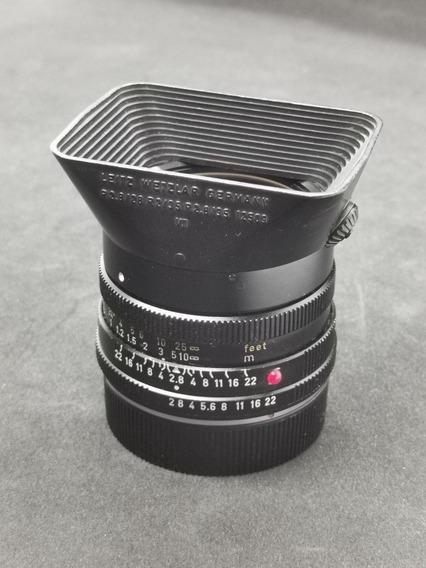 Leica Elmarit-r 35mm 2.8 Model Ii - Impecável E Completa