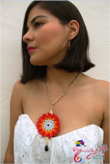 Collar Mandala Artesanía Huichol En Chaquira