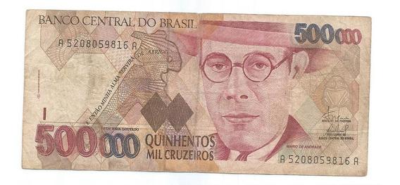 Brasil - C-233, 500.000 Cruzeiros, 1993, Série 5208ª, Mbc