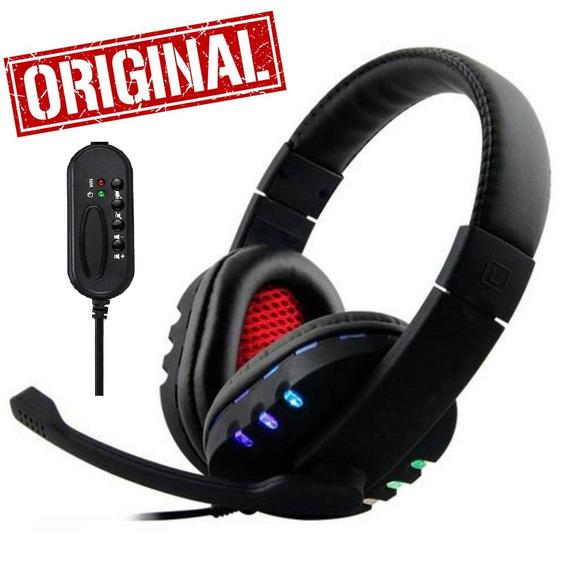 Fone Ouvido Gamer Headset Com Microfone Usb Pc Note Xbox Ps4