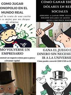 Pack 4 Libros, Como Jugar Monopolio, Sociedad De Caballeros.